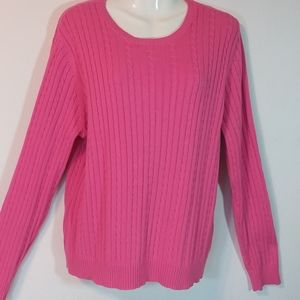 Izod Cable Knit Pink Sweater
